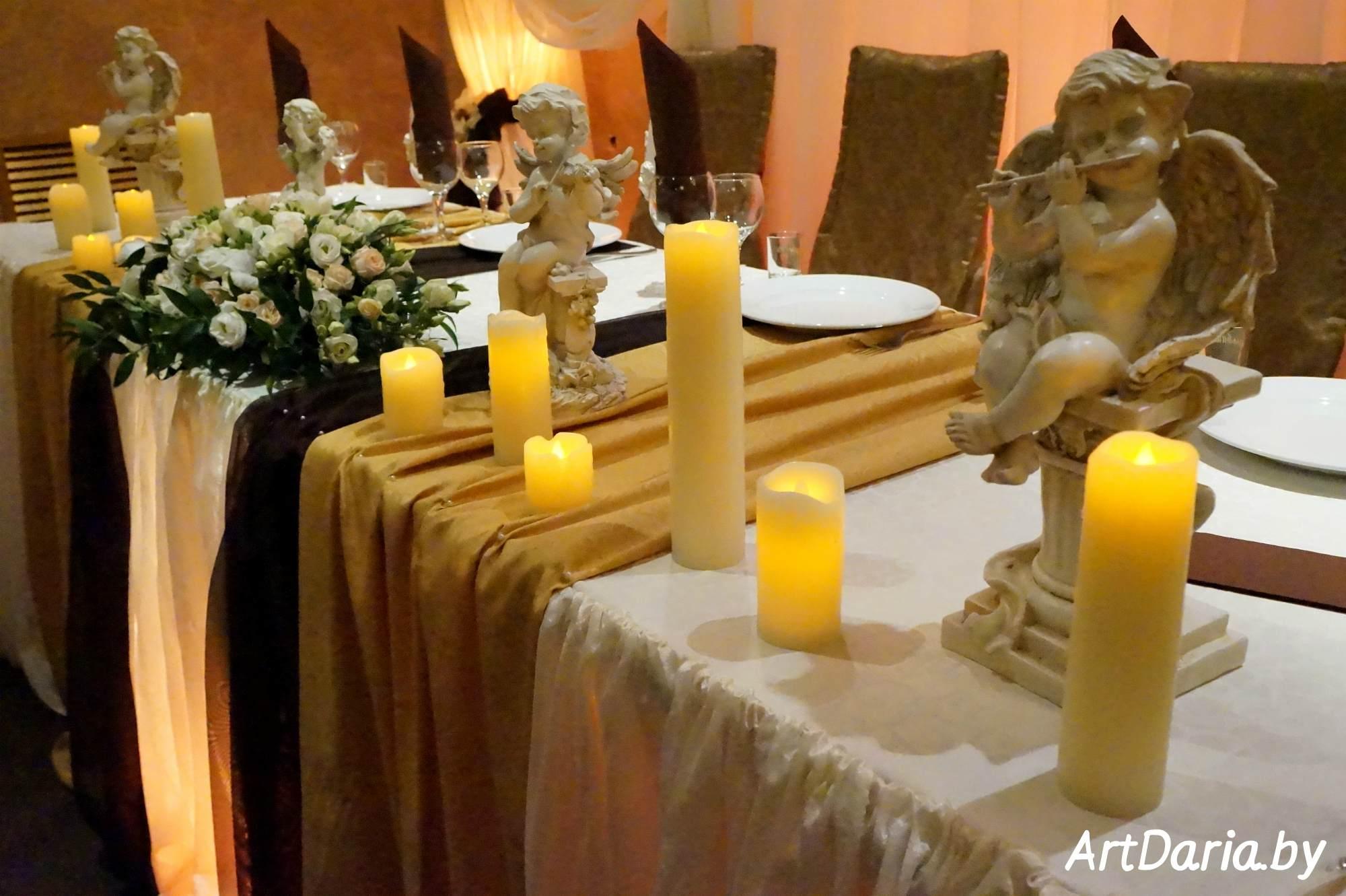 Аренда свечей для свадьбы